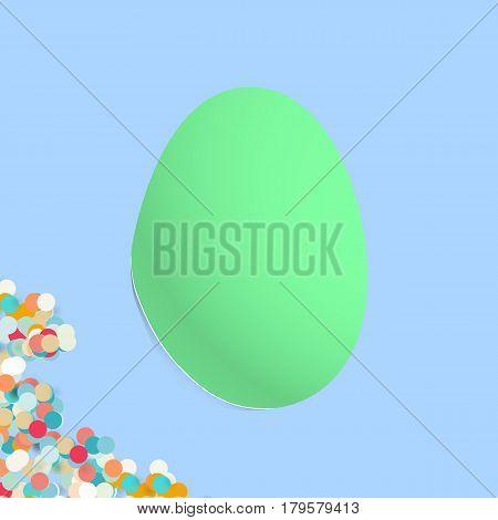 Egg Shaped Bended Paper For Design