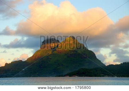 Cloud Over Bora Bora Mountain