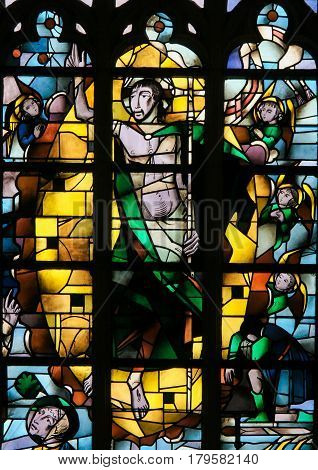 Stained Glass - Resurrection Of Jesus Christ