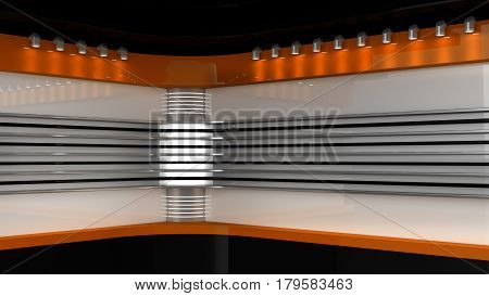 Tv Studio. Orange Studio. Backdrop For Tv Shows .tv On Wall. News Studio. The Perfect Backdrop For A