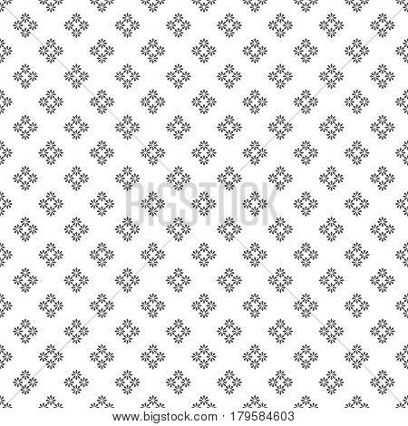 Vector seamless pattern. Abstract small textured background. Classical simple repeating geometrical texture with small flowers. Surface for wrapping paper shirts cloths press. Digital paper. Scrapbook.