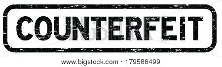 Grunge black square counterfeit rubber seal stamp