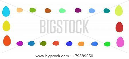 Frame of colorful balls on a white background - the contrast of the isolated object. Shapes abstract gypsum for field art.