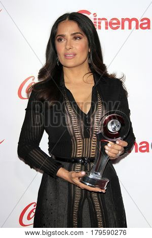 LAS VEGAS - MAR 30:  Salma Hayek at the CinemaCon 2017 - The CinemaCon Big Screen Achievement Awards at the Caesars Palace on March 30, 2017 in Las Vegas, NV