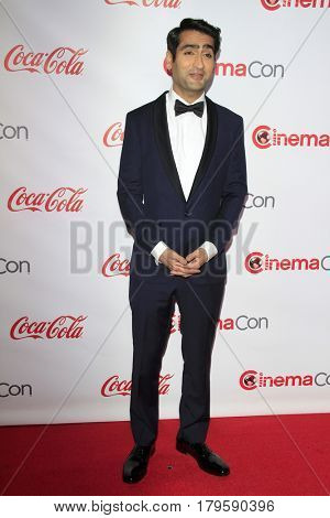 LAS VEGAS - MAR 30:  Kumail Nanjian at the CinemaCon 2017 - The CinemaCon Big Screen Achievement Awards at the Caesars Palace on March 30, 2017 in Las Vegas, NV