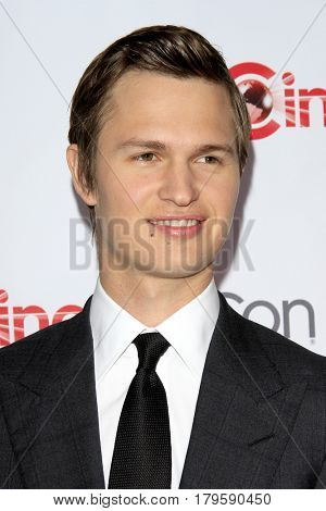 LAS VEGAS - MAR 30:  Ansel Elgort at the CinemaCon 2017 - The CinemaCon Big Screen Achievement Awards at the Caesars Palace on March 30, 2017 in Las Vegas, NV