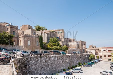 Landscape Of The Erice Town Located Near Trapani, Sicily