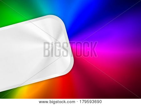 metal template with colorful background