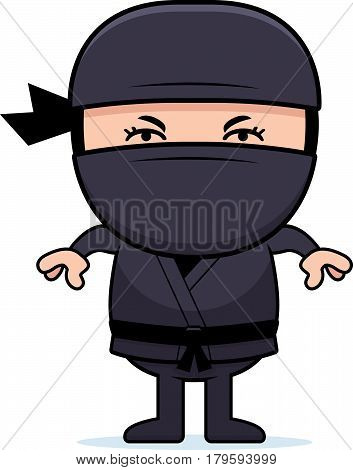 Angry Cartoon Little Ninja