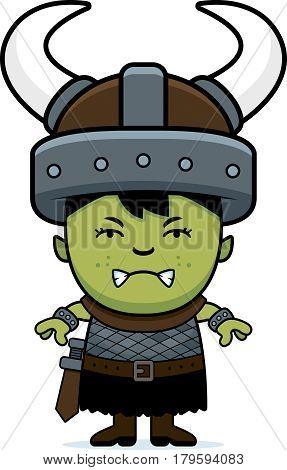 Angry Cartoon Orc Child