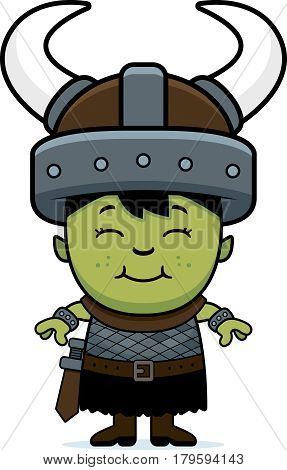 Smiling Cartoon Orc Child