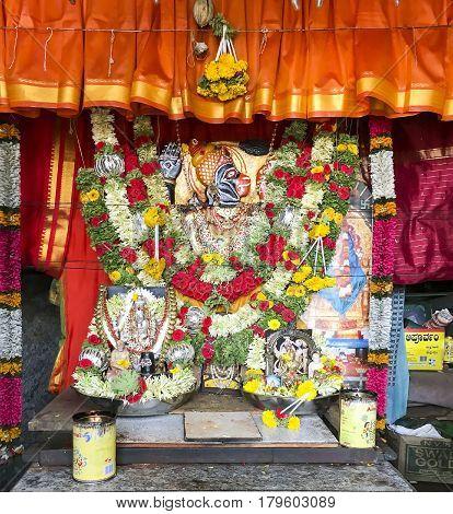 Lord Hanuman at Sri Mahalakshmi Temple, Goravanahalli, Karnataka captured on March 19th, 2017
