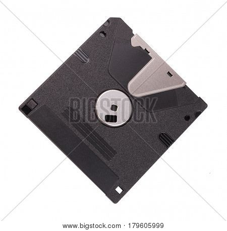 image of one micro floppy disk isolated