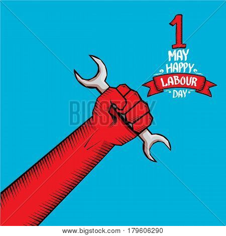 1 may - labour day. vector happy labour day poster or workers day banner