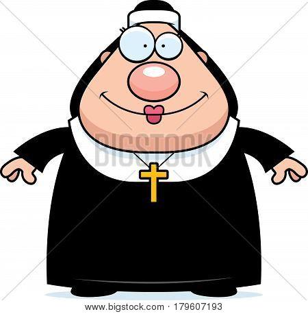 Smiling Cartoon Nun