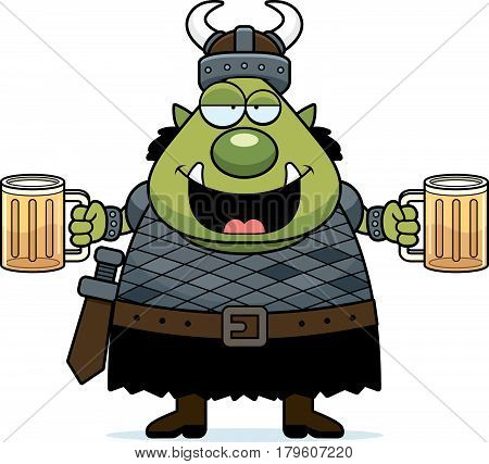 Drunk Cartoon Orc