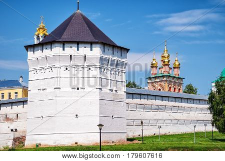 Trinity monastery (Trinity Lavra of St Sergius) in Sergiyev Posad near Moscow (Golden Ring of Russia)
