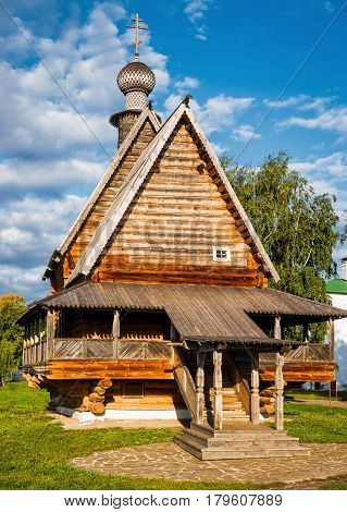Wooden Church of Saint Nicholas in Kremlin of Suzdal (Golden Ring of Russia)