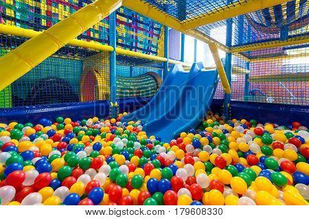 Modern children playground in the play room