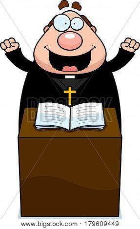 Cartoon Priest Sermon