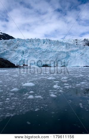 Glacier In Kenai Fjords Near Seward Alaska