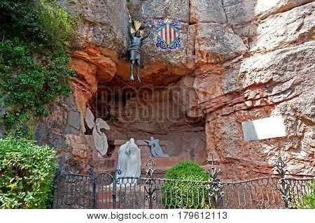 The mountain Montserrat with the Benedictine monastery of Santa Maria de Montserrat near Barcelona, Spain