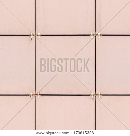 Beige porcelain tiles outdoor building wall cladding seamless square texture