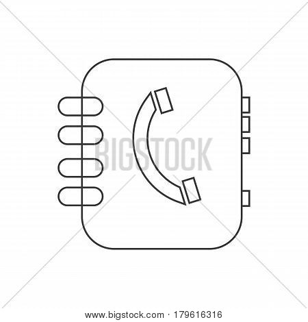 Address book vector on the white background. Vector illustration