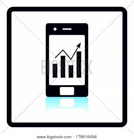 Smartphone With Analytics Diagram Icon