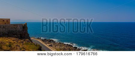 Mediterranean Sea (Sea of Crete) Greece, wide panorama