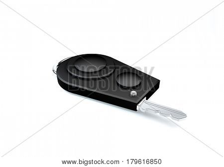 car key isolated on a white background