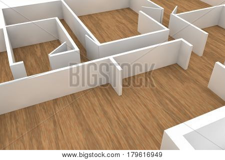 wooden floors and white walls and doors, simple template