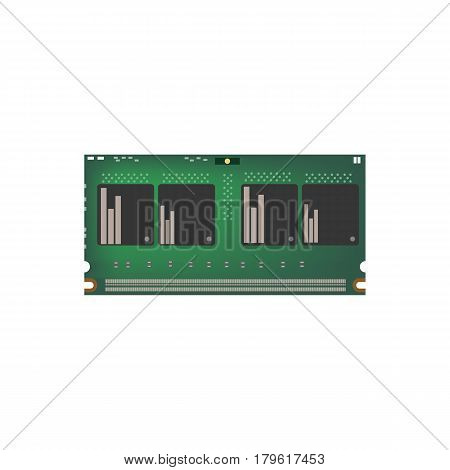 RAM 214 pin on the white background. Vector illustration