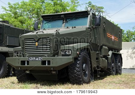 Armored car Typhoon-U Rostov-on-Don Russia June 4 2016