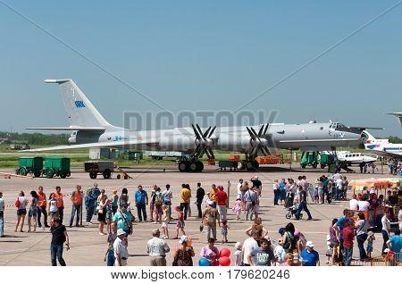 Tu-142 anti-submarine Indian Air Force aviation plant Taganrog Russia May 17 2014