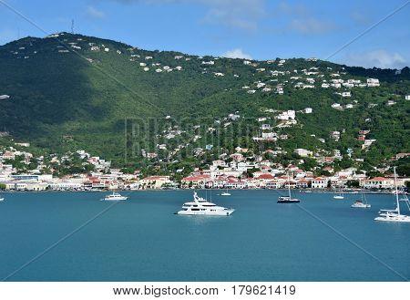 Coastal scenery from St Thomas US Vorgin islands