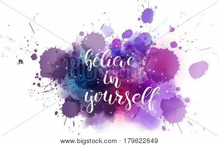 Typography Watercolored Background