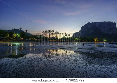 The Ao Nang resort at sunrise in Thailand