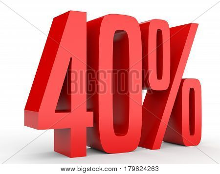 Forty Percent Off. Discount 40 %.