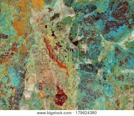 Colorful closeup turquoise gemstone texture. Background for design.