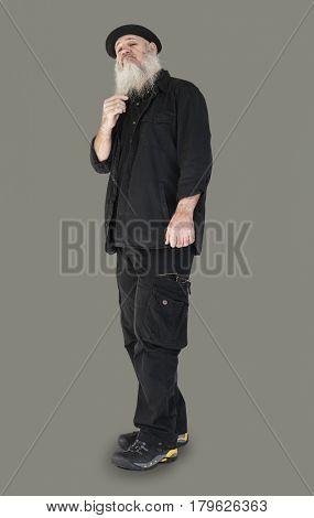 Senior Adult Man Confidence Self Esteem Portrait