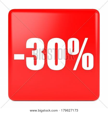 Thirty Percent Off. Discount 30 %.