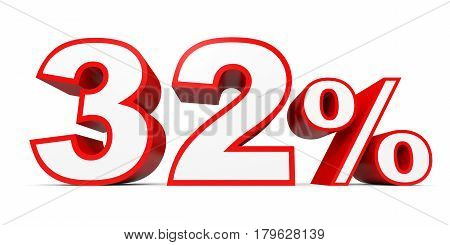 Thirty Two Percent Off. Discount 32 %.