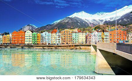 City Scape In Innsbruck City Center.