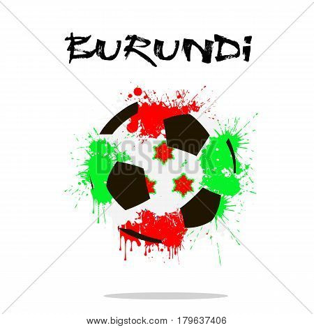 Flag Of Burundi As An Abstract Soccer Ball