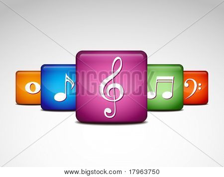 musical note icons