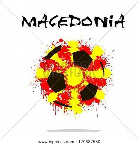 Flag Of Macedonia As An Abstract Soccer Ball