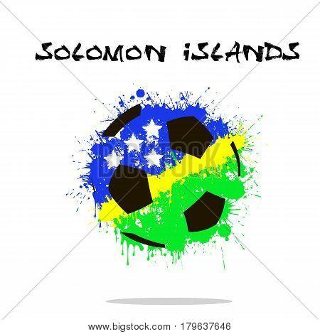 Flag Of Solomon Islands As An Abstract Soccer Ball