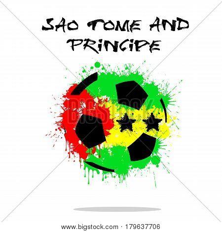 Flag Of Sao Tome And Principe As An Abstract Soccer Ball