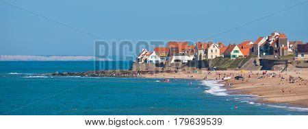 Small Settlement On The Coast